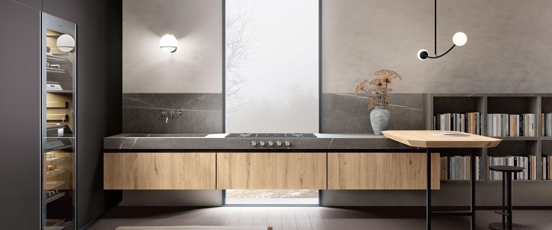 Top cucina e piani di lavoro in gres porcellanato sapienstone - Top cucina quarzite ...